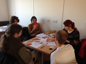A game design is tested at Bristol Games Hub. Image by @tomasrawlings
