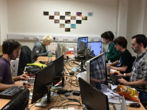 Bristol Games Hub - Developers at work! Image by @bentrewhella